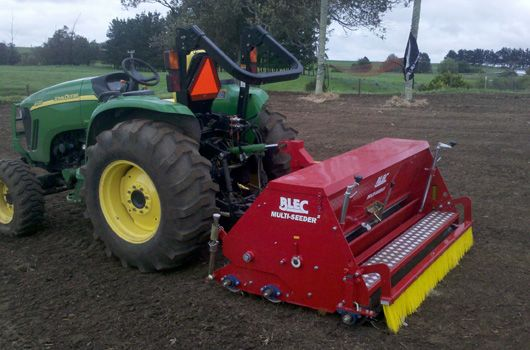 Tractor with Dimple Seeder