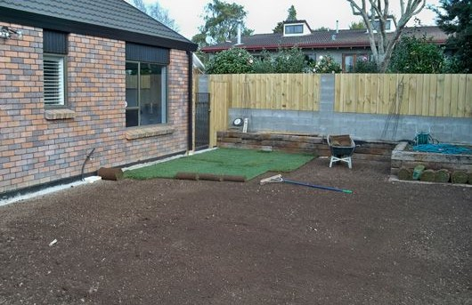 Levelling and Turf