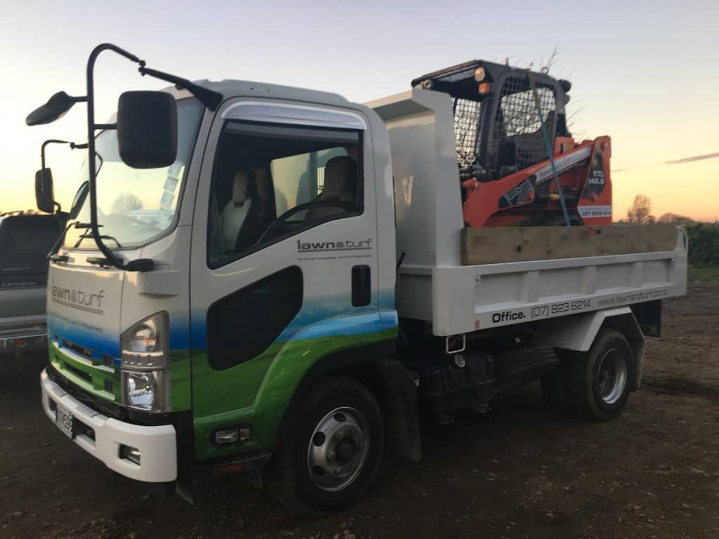 Isuzu Truck and Eurocomach Skid Steer